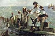 Alexander Mark Rossi The Little Anglers oil painting