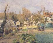 Camille Pissarro Kitchen Garden at L-Hermitage,Pontoise oil painting reproduction
