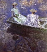 Claude Monet Young Girls in the Rowing Boat oil painting reproduction