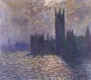 Claude Monet Houses of Parliament,Reflections on the Thames oil painting reproduction