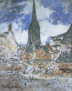 Claude Monet The Bell-Tower of Saint-Catherine at Honfleur oil painting reproduction