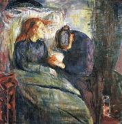 Edvard Munch The Sick girl oil painting