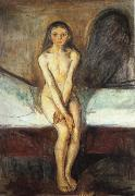 Edvard Munch Pubertat oil painting