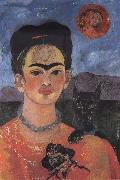 Frida Kahlo Self-Portrait with Diego on My Breast and Maria on My Brow oil painting reproduction