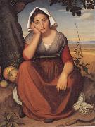 Friedrich overbeck Vittoria Caldoni oil painting