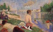 Georges Seurat Bathers oil painting reproduction
