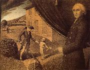 Grant Wood Fabrication oil painting reproduction