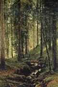 Ivan Shishkin The Brook in the Forest oil painting