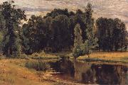 Ivan Shishkin The Pond in the old Flower gardens oil painting