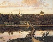 Levitan, Isaak The noiseless closter oil painting