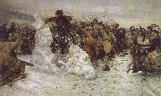 Vasily Surikov The Taking of the Snow oil painting