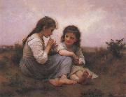 Adolphe Bouguereau Two Girls oil painting
