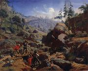 Charles Christian Nahl and august wenderoth Miners in the Sierras oil painting