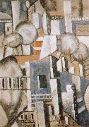 Fernard Leger The housetop of Paris oil painting