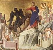 Duccio di Buoninsegna The Temptation of Christ on the Mountain oil painting