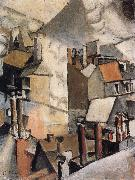 Fernard Leger Housetop-s smoke oil painting