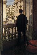 Gustave Caillebotte Young man near ther door oil painting reproduction