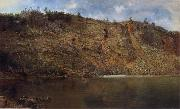 Homer Dodge Martin The Iron Mine,Port Henry oil painting
