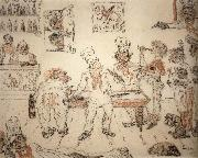 James Ensor Waiters and Cooks Playing Billiards,Emma Lambotte at the Billiard Table oil painting reproduction