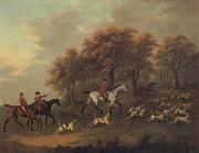 John Nost Sartorius Entering the Woods A Hunt oil painting