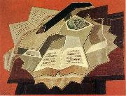 Juan Gris The book is opened oil painting reproduction
