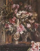 Pierre-Auguste Renoir Peonies,Lilacs ad Tulips oil painting reproduction