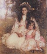 Robert Morrison The Browning Children oil painting