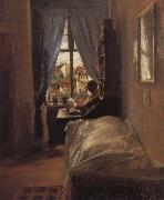 Adolph von Menzel The Artist-s Bedroom in the Ritterstrabe oil painting reproduction
