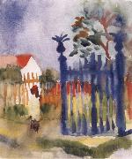 August Macke Garden Gate oil painting reproduction