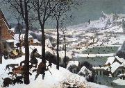 BRUEGEL, Pieter the Elder Hunters in the Snow oil painting reproduction