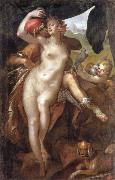 Bartholomaus Spranger Venus and Adonis oil painting reproduction