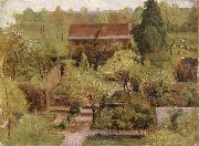 Christian Friedrich Gille Garden oil painting reproduction