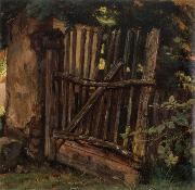 Christian Friedrich Gille Garden Gate oil painting reproduction