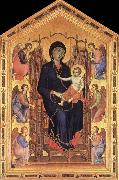 Duccio di Buoninsegna Madonna and Child Enthroned with Six Angels oil painting