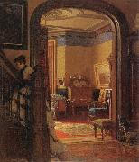 Eastman Johnson Not at Home oil painting