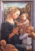 Filippino Lippi Madonna with the Child and Two Angels oil painting