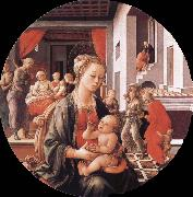 Filippino Lippi Virgin with the Child and Scenes from the Life of St Anne oil painting