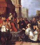 Frans Francken II Solomon and the Queen of Sheba oil painting