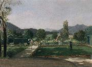 Friedrich August von Kaulabch Garden in Ohlstadt oil painting