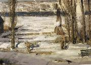 George Wesley Bellows A Morning Snow oil painting