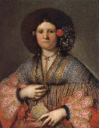 Girolamo Forabosco Portrait of a Venetian Lady oil painting