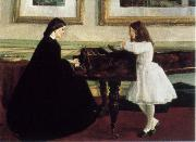 James Mcneill Whistler At the Piano oil painting