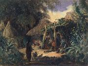 Johann Moritz Rugendas Indian Hut in the Village of Jalcomulco oil painting
