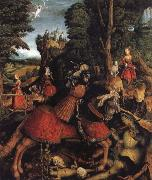 Leonhard Beck St George and the dragon oil painting reproduction