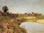 Levitan, Isaak Village at the Flubufer oil painting