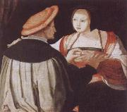 Lucas van Leyden The Engagement oil painting