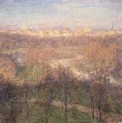 Metcalf, Willard Leroy Early Spring Afternoon,Central Park oil painting reproduction