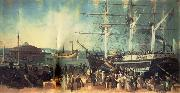 Samuel Bell Waugh The Bay and Harbor of New York oil painting reproduction