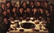 ANTHONISZ  Cornelis Banquet of Members of Amsterdam's Crossbow Civic Guard oil painting