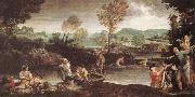 Annibale Carracci The Fishing oil painting